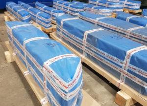 Упакованные листы магнитопровода